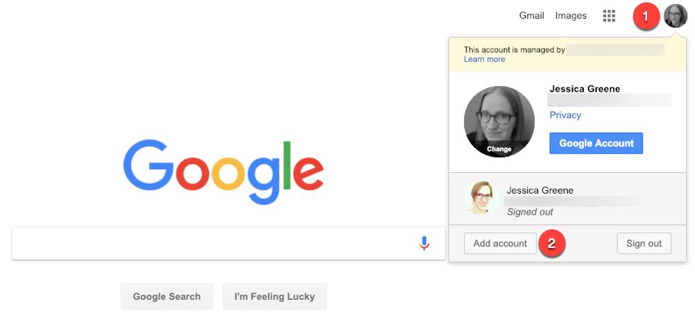 Built-in Account Switcher of Google