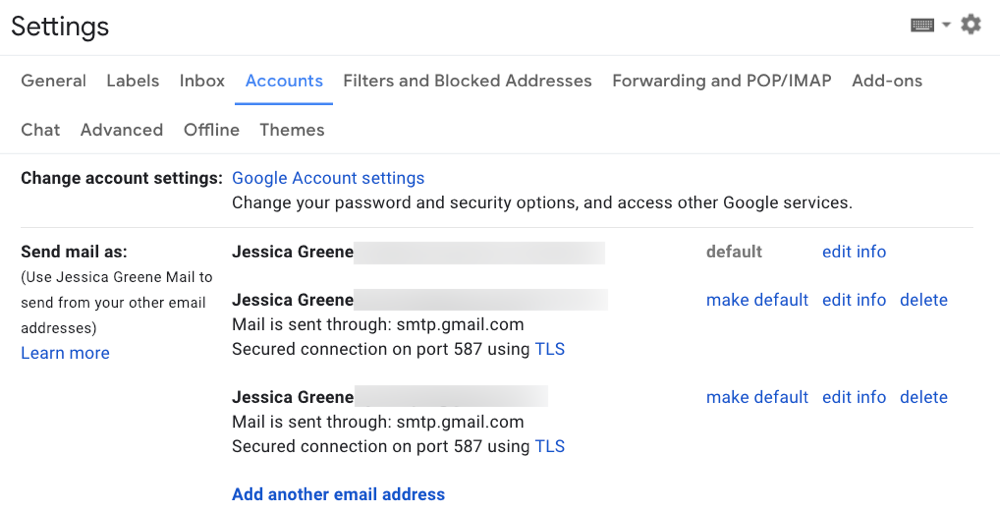 Consolidate your google account