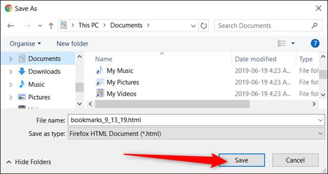 bookmark file