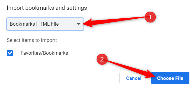 bookmark HTML file