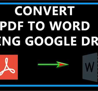 Google Pdf to Word Converter for the Best and Most Efficient Results