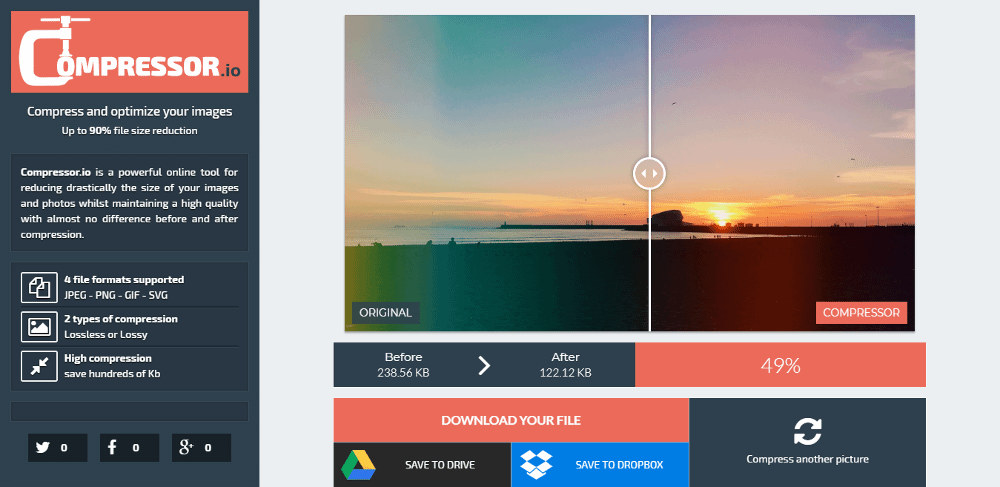 how to reduce the file size of an image