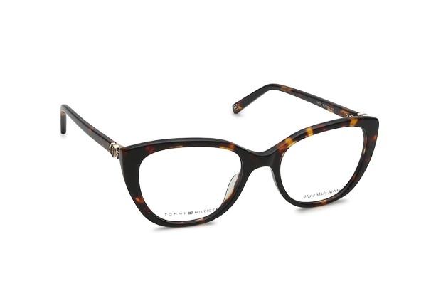 Black CatEye Semi-Rimmed Eyeglasses from Tommy Hilfiger