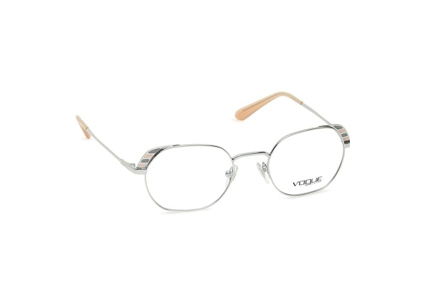 Silver Round Rimmed Eyeglasses from Vogue